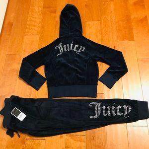 Juicy Couture crystal logo hoodie & pant